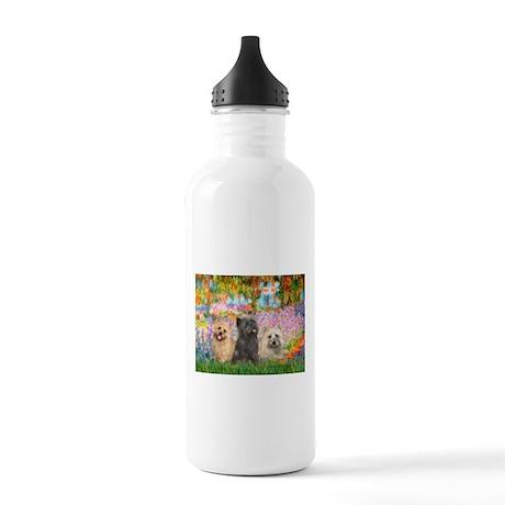 Garden/3 Cairn Terriers Stainless Water Bottle 1.0