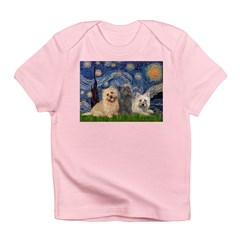 Starry/3 Cairn Terriers Infant T-Shirt
