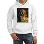 Fairies /Belgian Sheepdog Hooded Sweatshirt