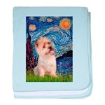 Starry Night / Cairn Terrier baby blanket
