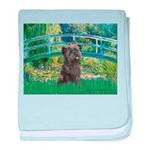 Bridge /Cairn Terrier (w) baby blanket