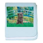 Bridge /Cairn Terrier (w) baby blanket