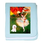 Ballet Dancer & Bichon baby blanket