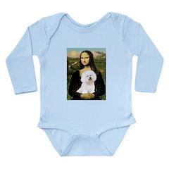 Mona's Bichon Long Sleeve Infant Bodysuit