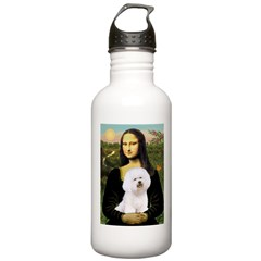 Mona's Bichon Stainless Water Bottle 1.0L