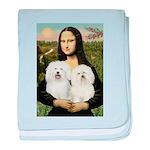 Mona's 2 Bolognese baby blanket