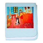 Room with Border Collie baby blanket