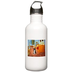 Room with Border Collie Stainless Water Bottle 1.0