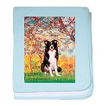 Spring & Border Collie baby blanket