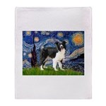Starry / Border Collie (Z) Throw Blanket