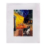 Cafe / Border Collie (Z) Throw Blanket