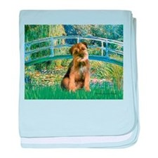 Bridge / Border Terrier baby blanket