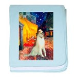 Terrace Cafe & Borzoi baby blanket