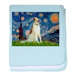 Starry Night & Borzoi baby blanket