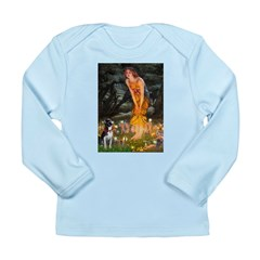 Fairies & Boston Terrier Long Sleeve Infant T-Shir