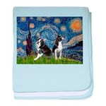 Starry Night & Bos Ter baby blanket