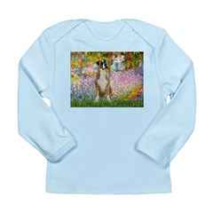 Boxer in Monet's Garden Long Sleeve Infant T-Shirt