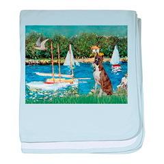 Sailboats & Boxer baby blanket