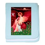 Angel/Brittany Spaniel baby blanket