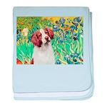 Irises/Brittany baby blanket