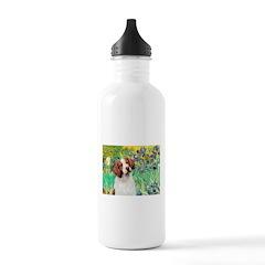 Irises/Brittany Water Bottle