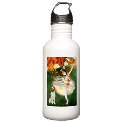 Dancer/Brittany Spaniel Stainless Water Bottle 1.0
