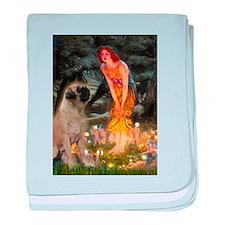 Fairies / Bullmastiff baby blanket