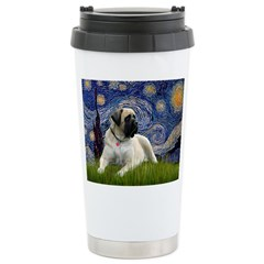 Starry / Bullmastiff Ceramic Travel Mug