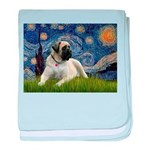 Starry / Bullmastiff baby blanket