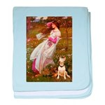 Windflowers Bull Terrier baby blanket