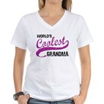 World's Coolest Grandma Women's V-Neck T-Shirt