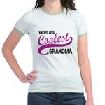 World's Coolest Grandma Jr. Ringer T-Shirt