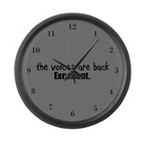 Crazy Voices Large Wall Clock