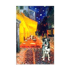 Cafe / Catahoula Leopard Dog Mini Poster Print