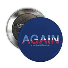 "Obama AGAIN Button 2.25"" - 100 pack"