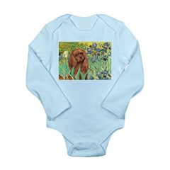 Irises & Ruby Cavalier Long Sleeve Infant Bodysuit
