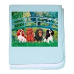 Bridge & 4 Cavaliers baby blanket