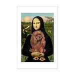 Mona's Ruby Cavalier Mini Poster Print