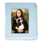 Mona's Tri Cavalier baby blanket