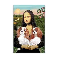 Mona's 2 Cavaliers Mini Poster Print