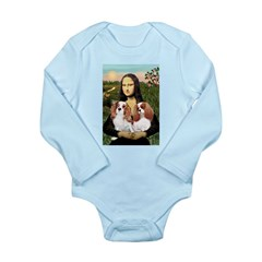 Mona's 2 Cavaliers Long Sleeve Infant Bodysuit