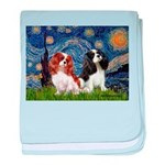 Starry Cavalier Pair baby blanket