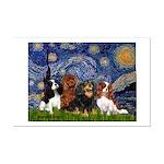 Starry / 4 Cavaliers Mini Poster Print