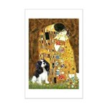 The Kiss & Tri Cavalier Mini Poster Print