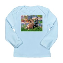 Lilies (2) & 2 Chihuahuas Long Sleeve Infant T-Shi