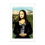 Mona Lisa / Chihuahua Mini Poster Print