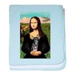 Mona Lisa / Chihuahua baby blanket