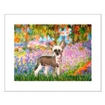 Garden / Chinese Crested Small Poster