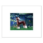 Lilies / Chinese Crested Small Poster
