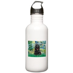 Bridge / Black Cocker Spaniel Stainless Water Bott